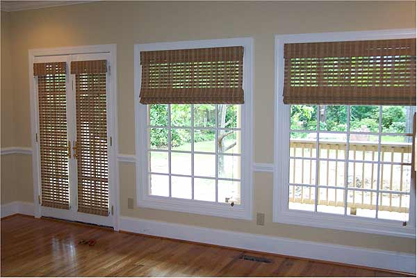 b78603207b3d Basswood Roll Up Woven Wood Shades for Porch